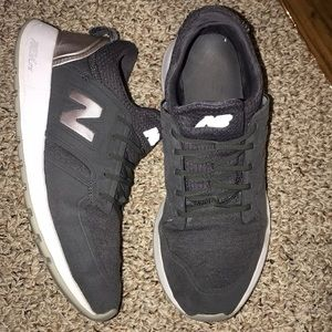 Grey & rose gold New Balance sneakers